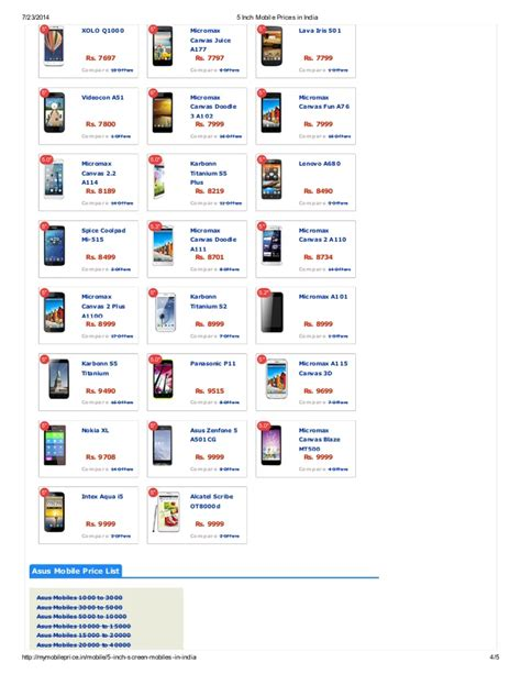 5 inch mobile 5 inch mobile prices in india