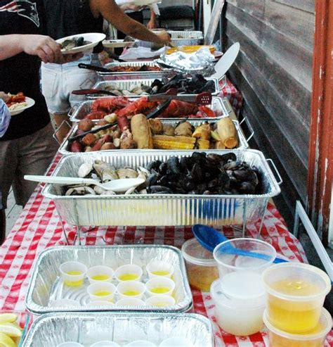 backyard clambake clambake delivery buffet backyard family reunion b m
