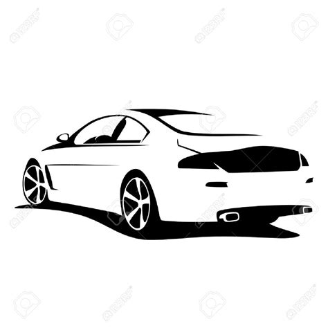 car logo black and white car symbol clipart 71