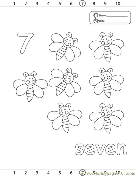 coloring page number 7 numbers 7 coloring page free numbers coloring pages