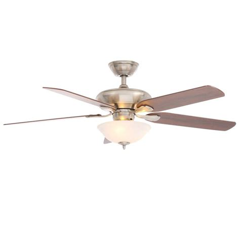 hton bay southwind 52 in brushed nickel ceiling fan hton bay southwind in brushed nickel ceiling fan