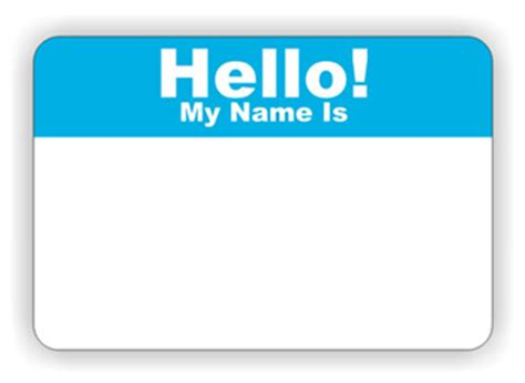 Name Tag Design Clipart | hello my name is clipart