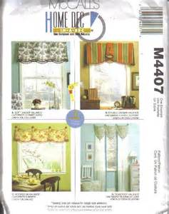 home decor sewing ideas oop mccall s sewing pattern home d 233 cor window treatment decorating your choice ebay