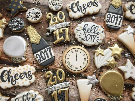 new year cookies 75 best new years decorated cookies and cake pops images