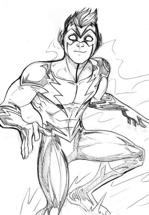 Coloring Pages Of Kid Flash | kid flash coloring pages coloring home