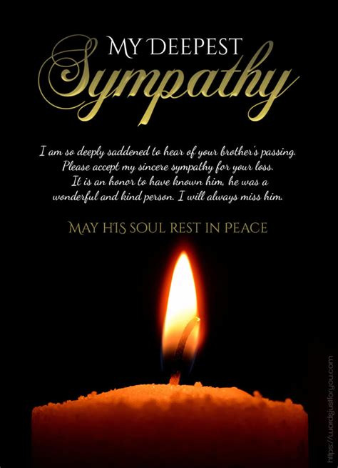 deepest sympathy messages words