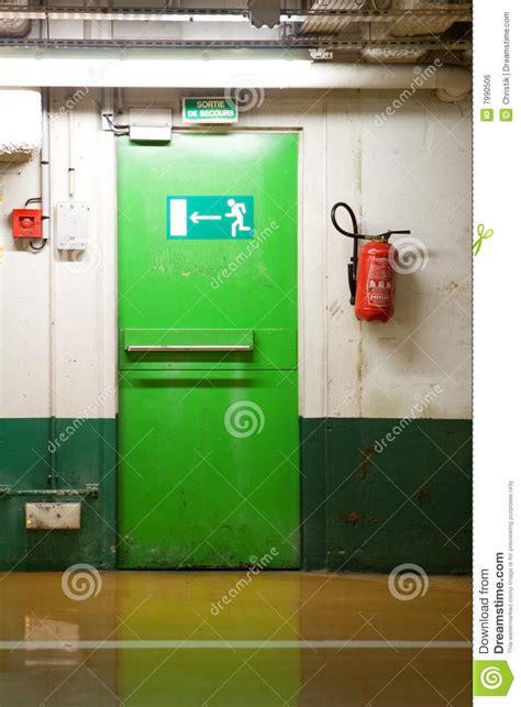 emergency exit door stock photo image  fire