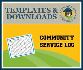 Community Service Log Students Must community service log 171 letshomeschoolhighschool