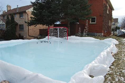my backyard ice rink our backyard rink shooting pad