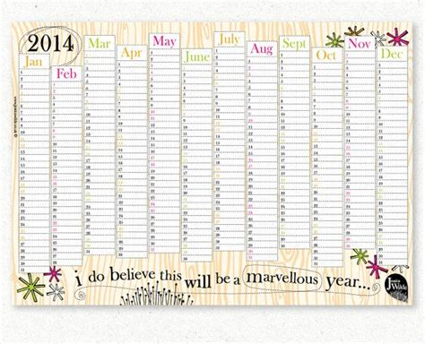 free printable a3 2015 wall planner 1000 images about wall planner on pinterest