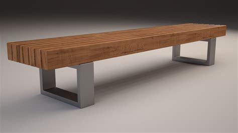 model bench bench 501 3d model max obj 3ds fbx cgtrader com