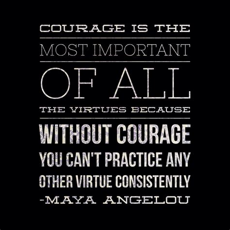 Angelou Quotes Angelou Quotes About Courage Quotesgram