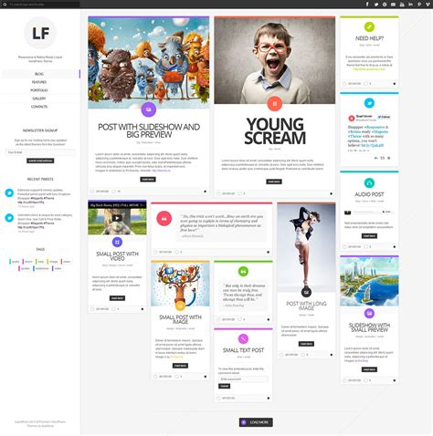 wordpress theme liquid layout liquidfolio portfolio premium wordpress theme on behance