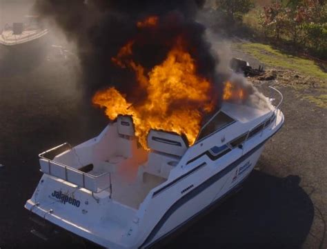reel fire boat 4 fire extinguisher myths about a boat fire odu magazine