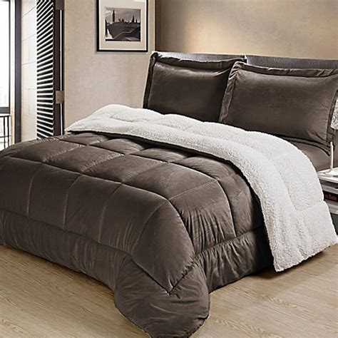 down comforter bed bath and beyond buy sherpa down alternative 2 piece twin comforter set in