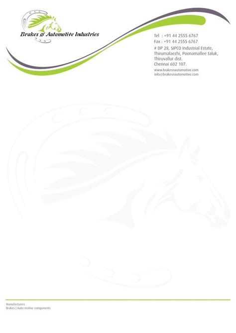 Business Letterhead Sle Doc 25 Best Ideas About Letterhead Sle On