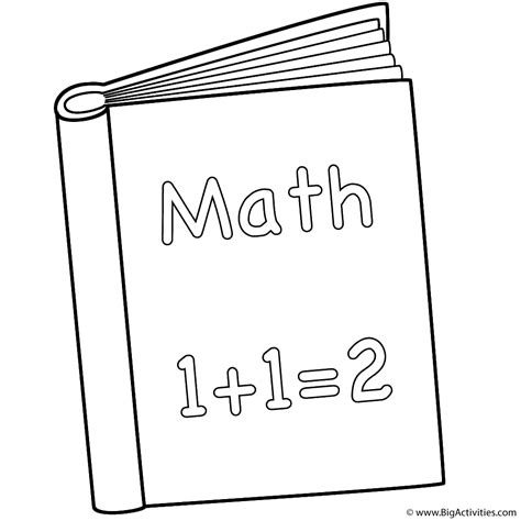 math book coloring page 100th day of school