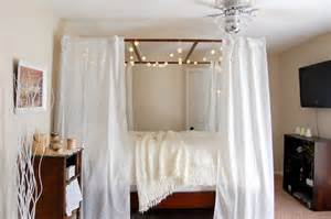 Canopy Bed Twinkle Lights Bed Canopy With Lights Bangdodo