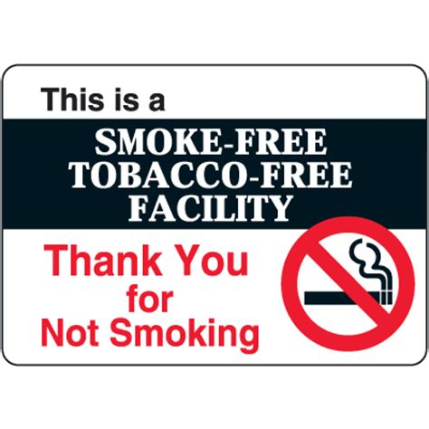 No Smoking Signs 7 Quot X10 Quot Interior Signs Seton | this is a smoke free tobacco free facility decor signs