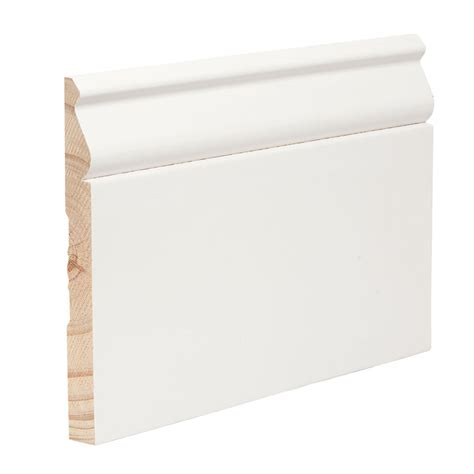 Bathroom Baseboard Ideas shop evertrue 5 25 in x 16 ft interior pine baseboard at