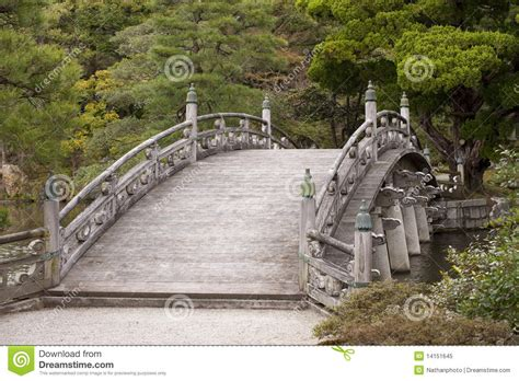 Traditional Japanese Arched Bridge Stock Image Image Bridge Traditional