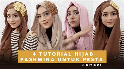 youtube tutorial hijab pesta 4 tutorial hijab pesta dan wisuda menggunakan pashmina