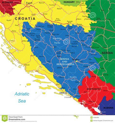 map of bosnia bosnia herzegovina map stock photo image 34684960