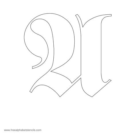 printable old english numbers free printable stencils for alphabet letters numbers
