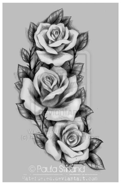 artistic rose tattoos roses for hatefueleddeviantart on deviantart inside