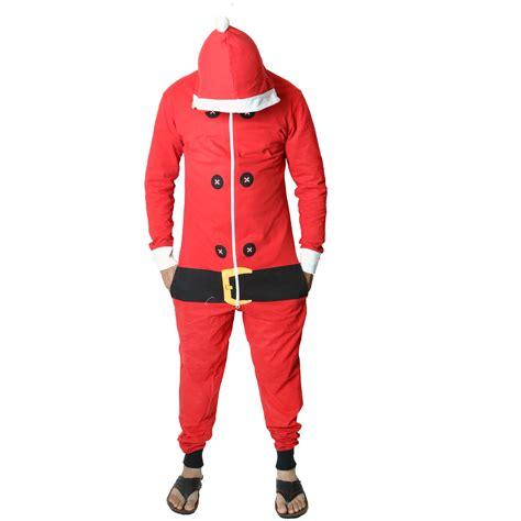 santa christmas jumpsuits unisex men s ladies hooded
