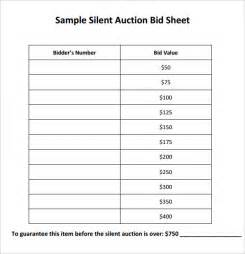 Auction Bid Sheet Template Free by Silent Auction Bid Sheet Template 17 Free