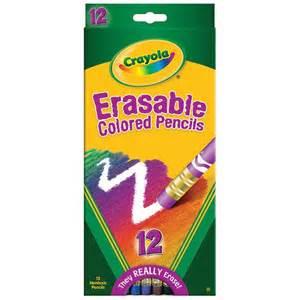 erasable colored pencils erasable colored pencils 12 ct bin684412 crayola llc