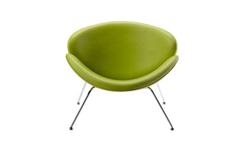 Lime Green Accent Chair Modrest Anais Contemporary Green Leatherette Accent Chair