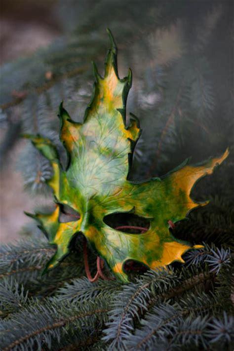 printable leaf mask handmade silver maple leaf mask by osbornearts on deviantart