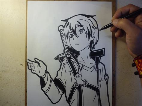 como dibujar a kirito how to draw kirito youtube