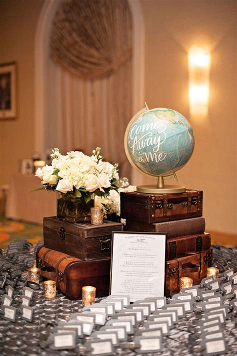 travel themed table  guest book  eiffel tower