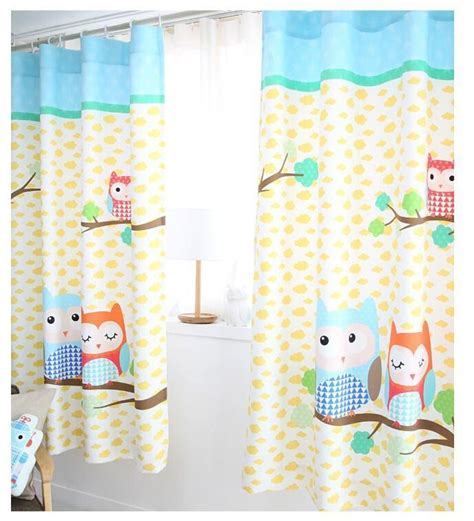 2016 cartoon owl printed kids curtain for baby room new 3d cartoon owl kids room curtain window curtain for
