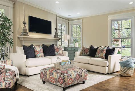 Beige Living Room Set Pomfret Beige Living Room Set From Furniture Of America Coleman Furniture