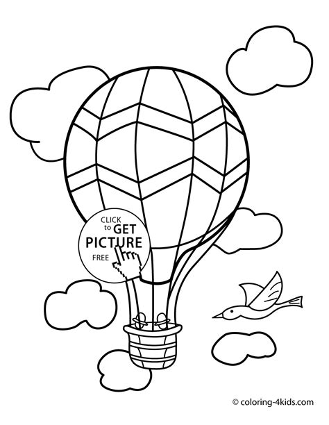 transportation coloring pages for toddlers balloon transportation coloring pages aerostat for
