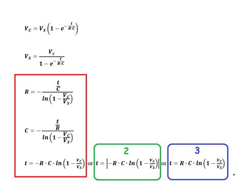capacitor calculation formula capacitor charge formula solved respect to t r c electrical engineering stack exchange