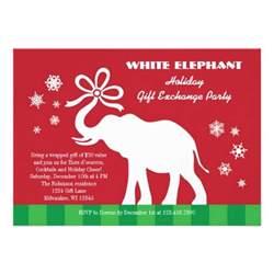 1 000 white elephant invitations white elephant announcements invites zazzle