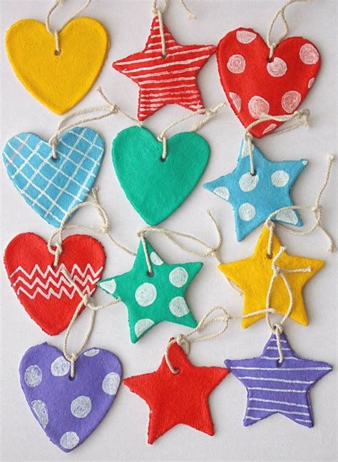 christmas decorations from salt dough crafts pinterest