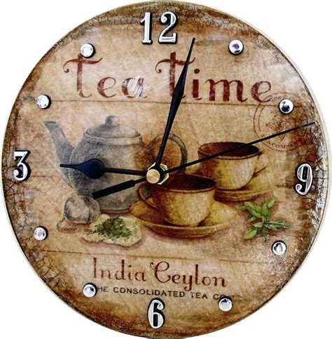 Decoupage Clock - decoupage wall clock folksy