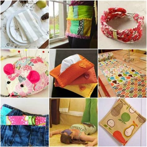 small craft projects with fabric 18 projects to upcycle leftover fabric scraps