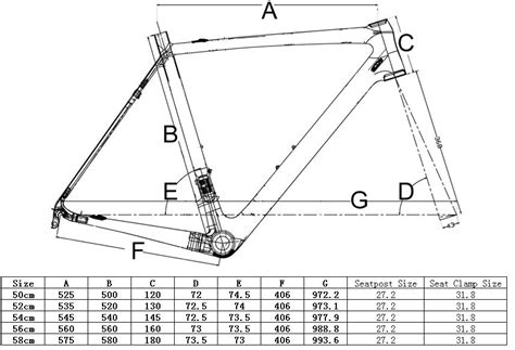 bicycle frame design dimensions start with the frame carbon road bike diy