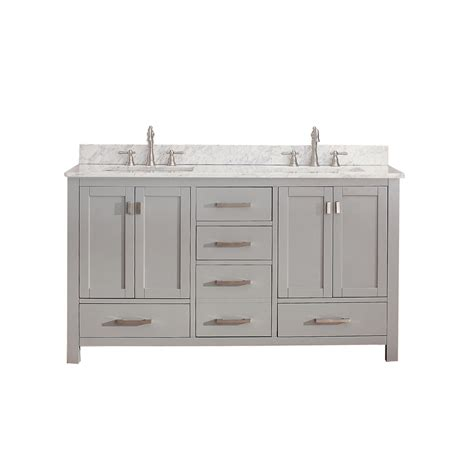 avanity modero 60 quot bathroom vanity chilled gray