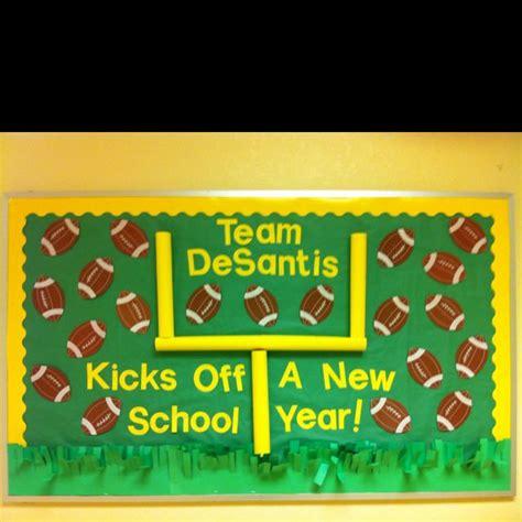 new year ideas school my football themed bulletin board for next year the