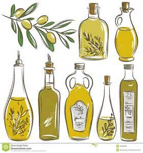 Spice Kitchen Design Set Of Bottle For Olive Oil Vector Stock Vector Image