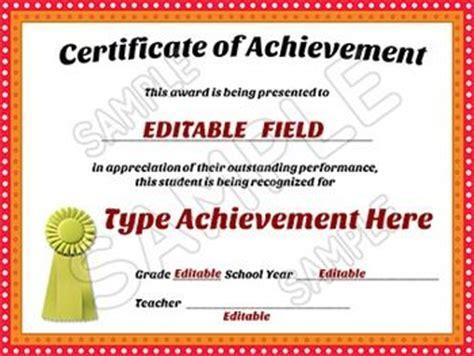 Awards Certificates Of Achievement Editable Room Parent Certificate Of Achievement Editable Certificate Of Achievement Template