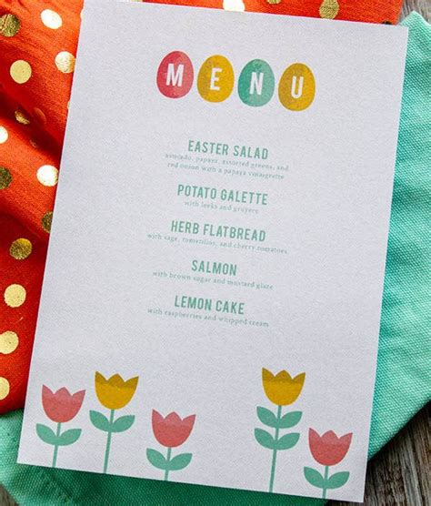 easter menu templates printable jpg psd eps format